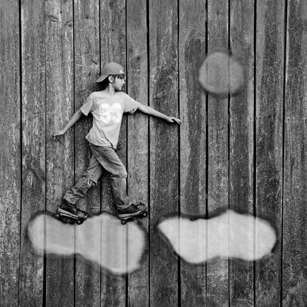 Детство в черно-белых фотографиях