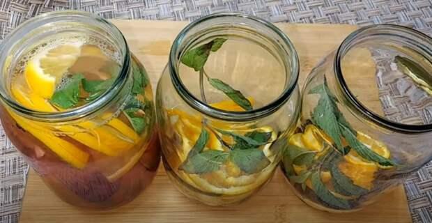 Делайте больше: компот из апельсинов с мятой! Мохито на Зиму домашних условиях