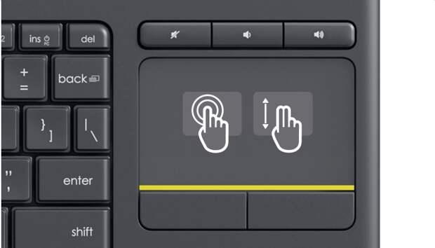 Logitech K400 Plus: гибридная клавиатура для работы с домашними медиацентрами