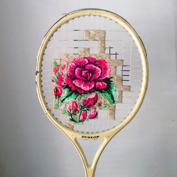 Вышивка на грани с ткачеством