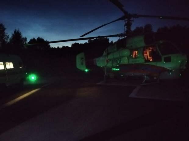 Ребёнка экстренно доставили на вертолёте санавиации в Тверь