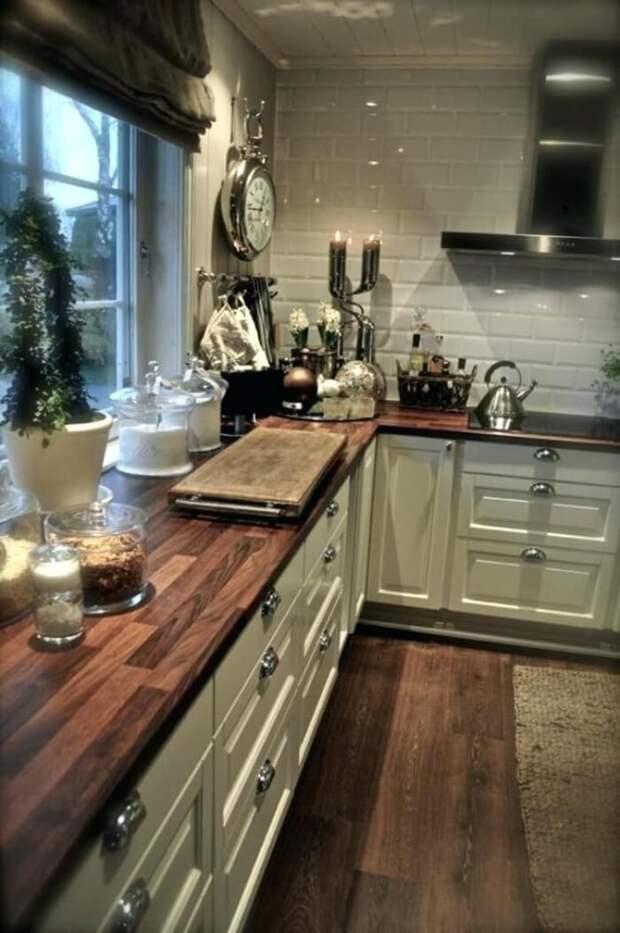 Шикарная во все времена деревянная столешница: 15 красивых идей