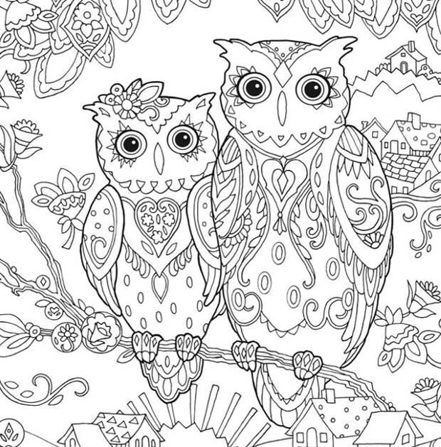 30 бесплатных раскрасок для взрослых. Снимаем стресс