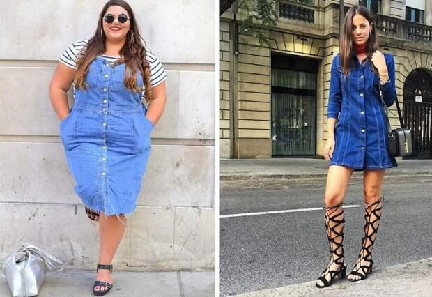 Джинсовое платье - удобная и стильная одежда для представительниц прекрасного пола.