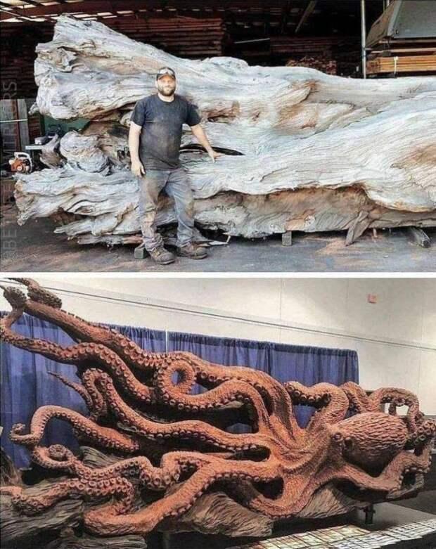 Произведение искусства из дерева