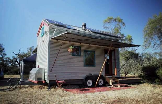 дом на колесах Фреда Шульца фасад: Дом на колесах