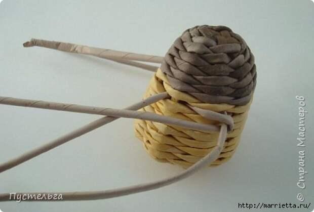 Плетение из газетных трубочек. Птичка СИНИЧКА (16) (520x352, 70Kb)