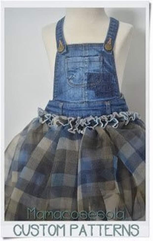 Переделка джинсовой юбки на лямках (Diy)