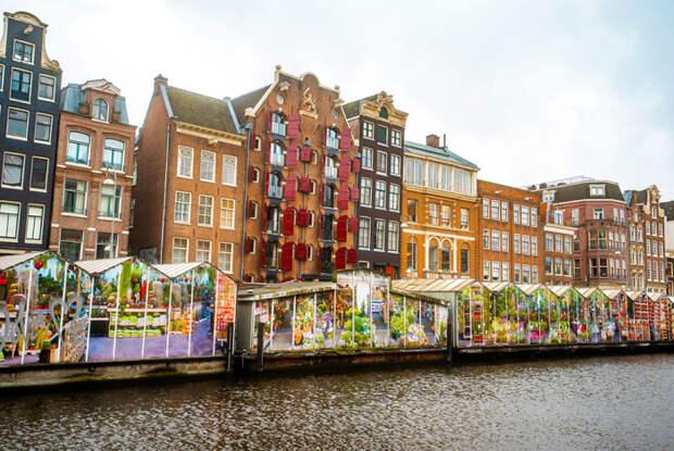 Рынок живых цветов, Амстердам / Фото: www.ifioridimark.it