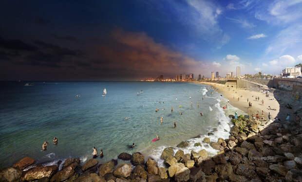 Потрясающие панорамные снимки смены дня и ночи