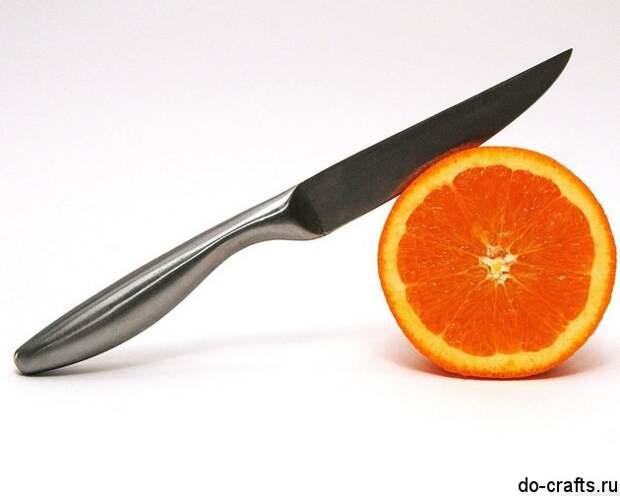 Свеча из апельсина 5