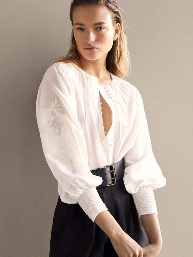 Блузка Massimo Dutti, цена 6490 рублей