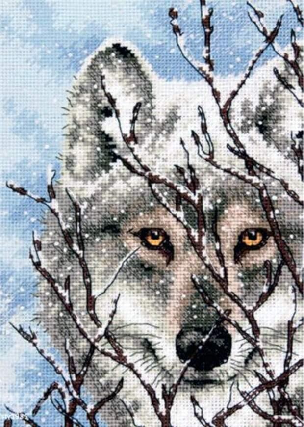Вышивка Wolf (Dimensions)
