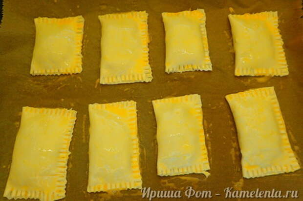 Приготовление рецепта Домашние слойки (эконом вариант) шаг 6