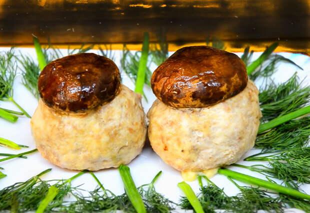Праздничное горячее блюдо Грибы на поляне