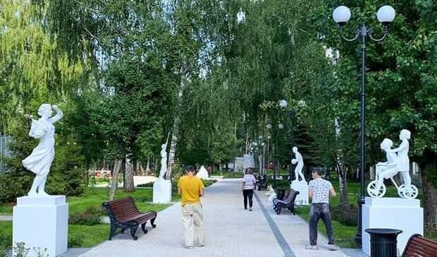 ВКазани вернули скульптуры всоветском стиле впарк уДКСаид-Галиева