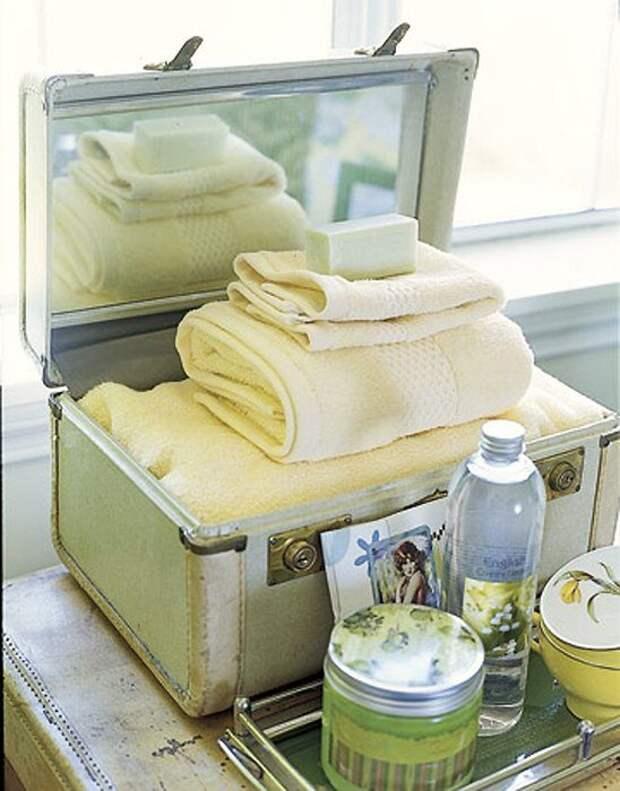 Использование чемодана в интерьере