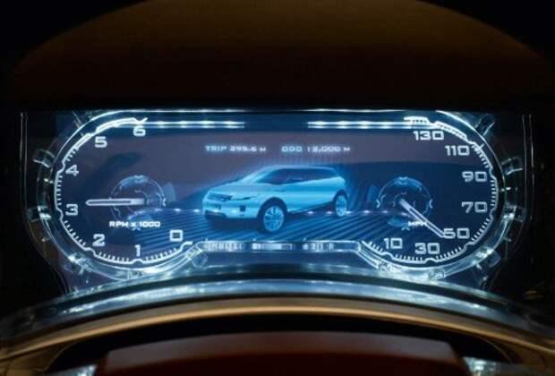 Цифровая панель приборов Land Rover