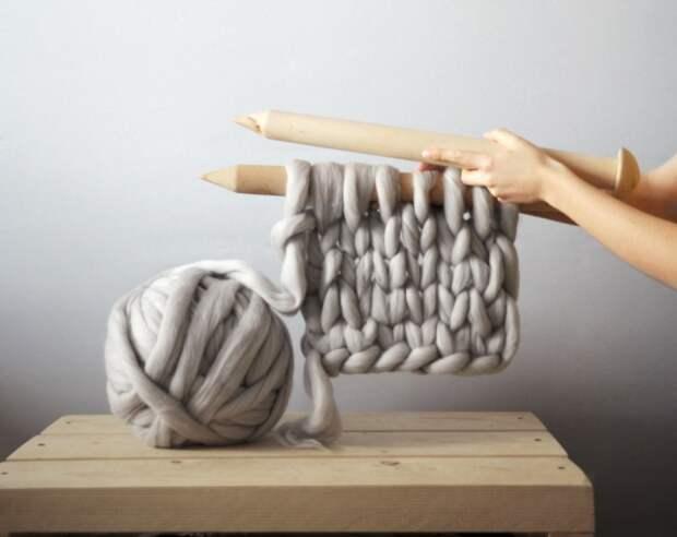 Гигантские петли, умелые руки, 100% шерсть и вдохновение