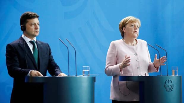 Меркель и Зеленский обсудили работу нормандского формата