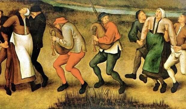15. Средневековая танцевальная чума болезнь, люди