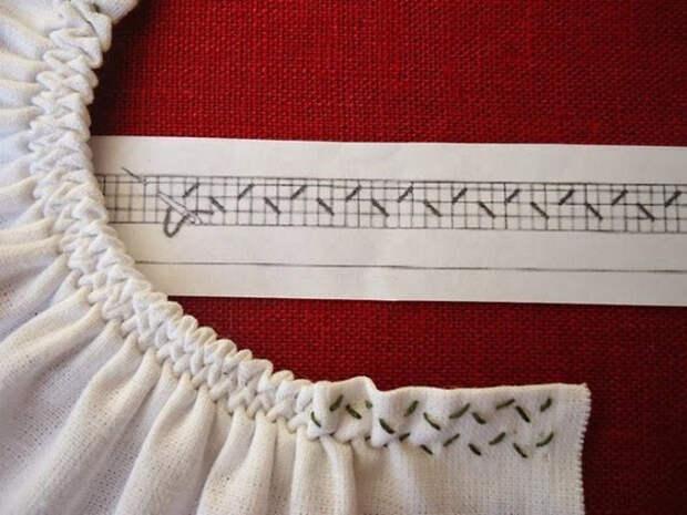 Формируем красивые сборки на горловине, рукавах, и других шитых изделиях