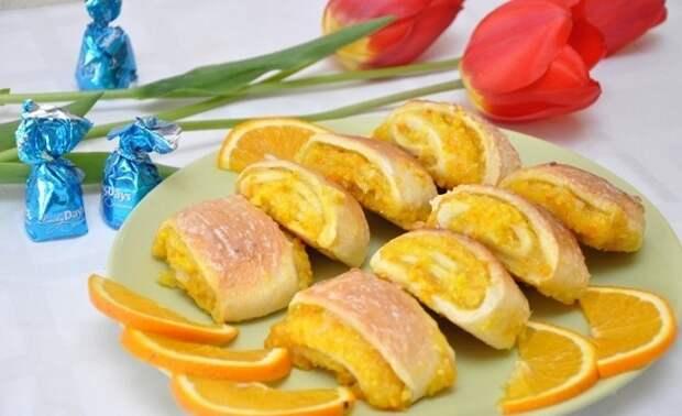 апельсиновое печенье
