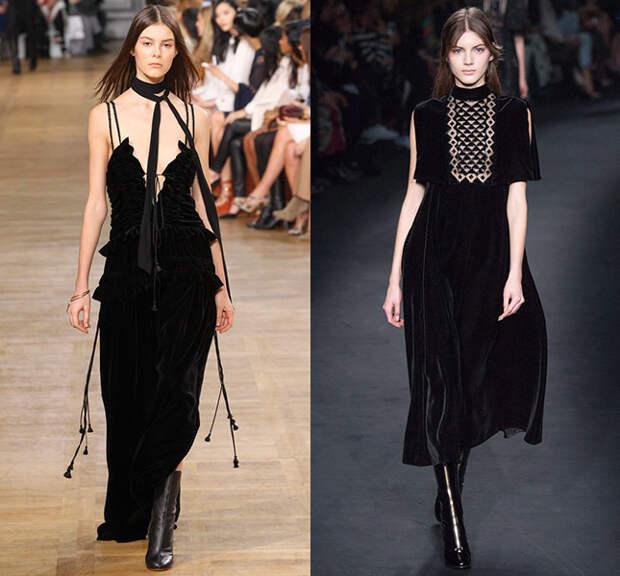 Слева — Chloé, справа — Valentino