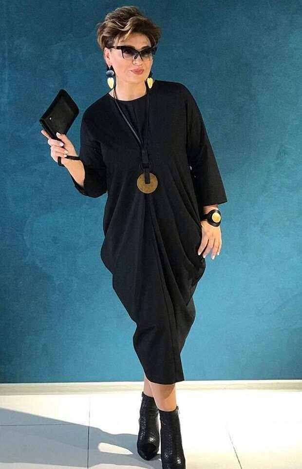 Вечерний вариант платья-ромб - все решают украшения