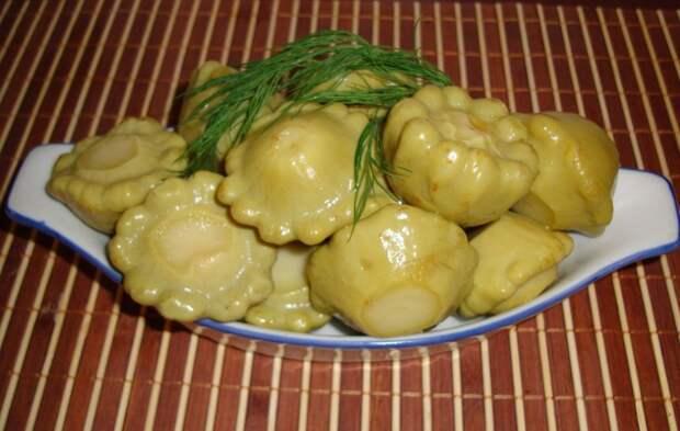 Патиссоны маринованные вкусно, еда