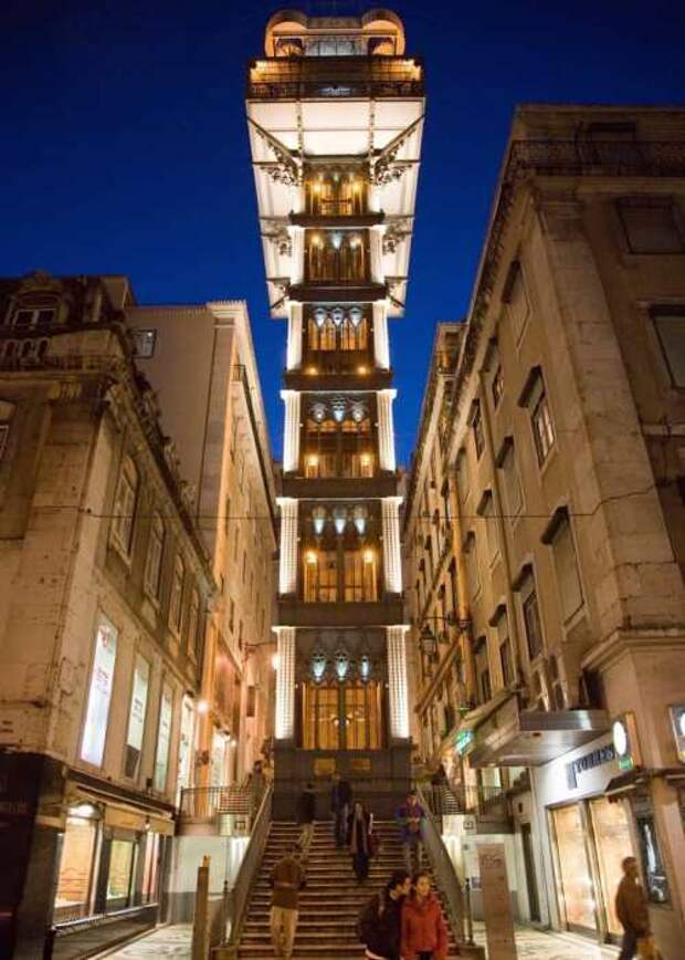 Самый необычный лифт в Европе. /Фото: hostelskills.com