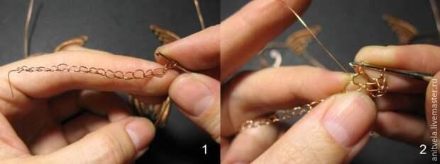 Колье «Рыбы» в технике wire work. Мастер-класс