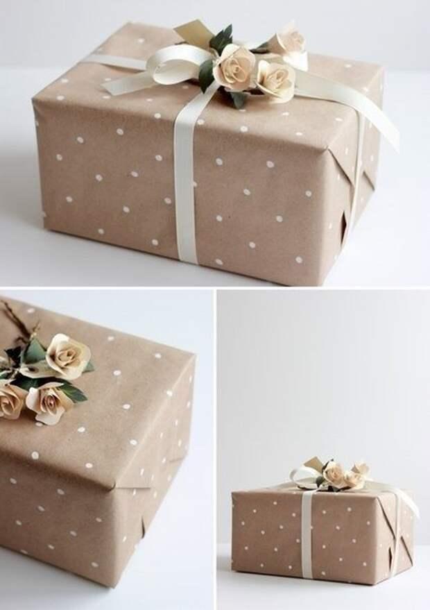 Милая упаковка в горошек (Diy)