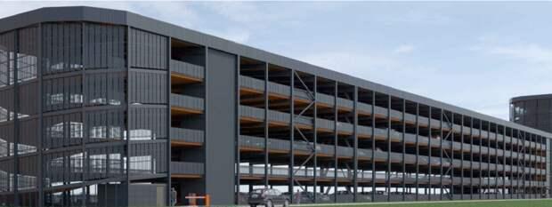 В ЖК «Полярная, 25» построили многоуровневую парковку на 751 место