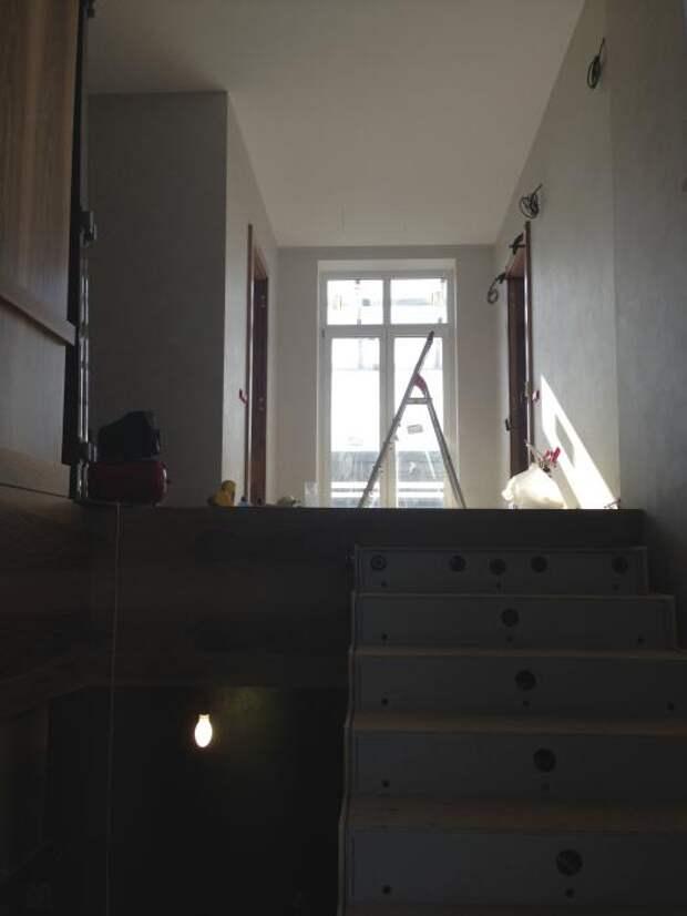 Лестница в загородном доме, монтаж лестницы