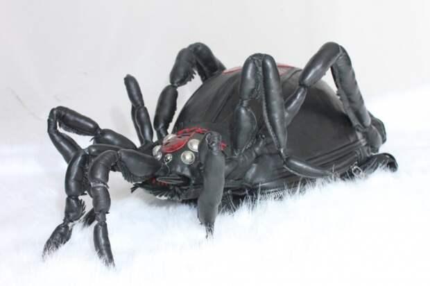 рюкзак дракон черная кожа