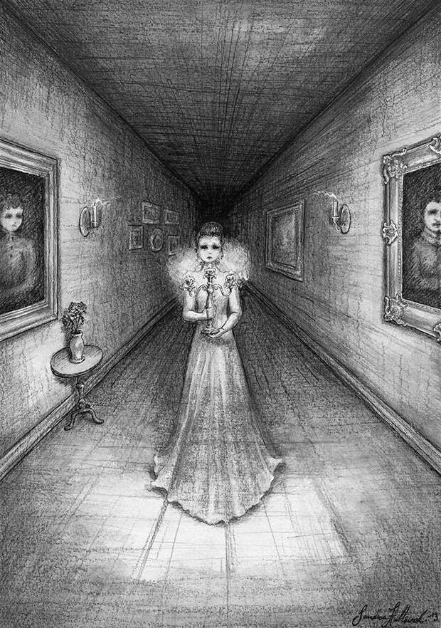 Пугающие карандашные рисунки