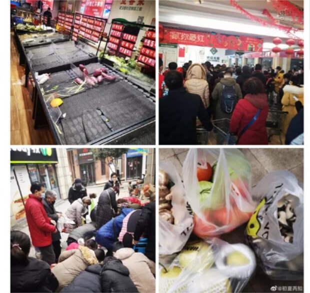 паника в магазинах Китая