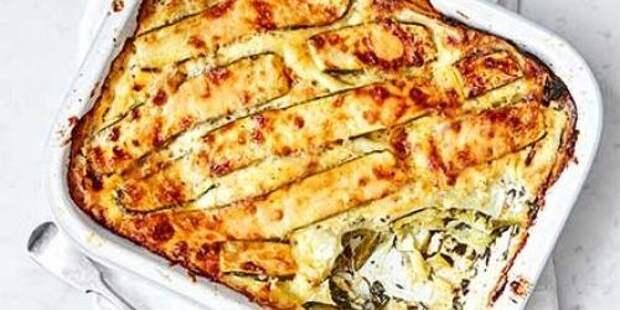 Рецепты кабачков в духовке: Лазанья с кабачками, шпинатом и маскарпоне