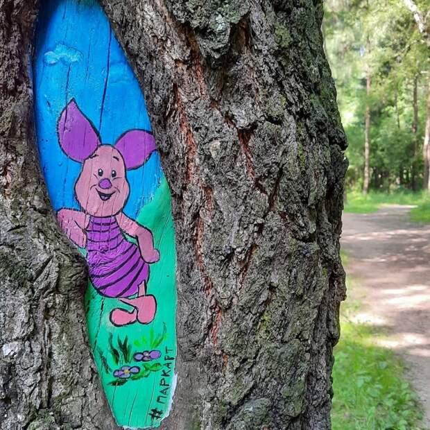 Фото дня: в Лианозовском питомнике на дереве поселился Пятачок