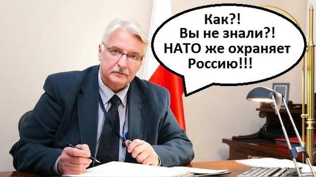 МИД Польши: НАТО, расширяясь на Восток, охраняет Россию  #вотэтоповорот