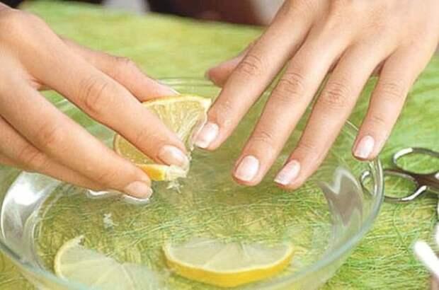 Уход за ногтями с помощью лимона лимон, польза