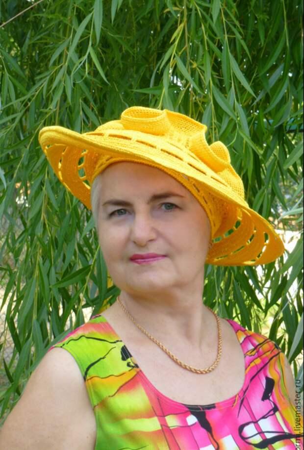 Потрясающие вязаные шляпки от Людмилы Орешкиной