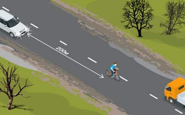 Что выкинет велосипедист? Школа опытных водителей