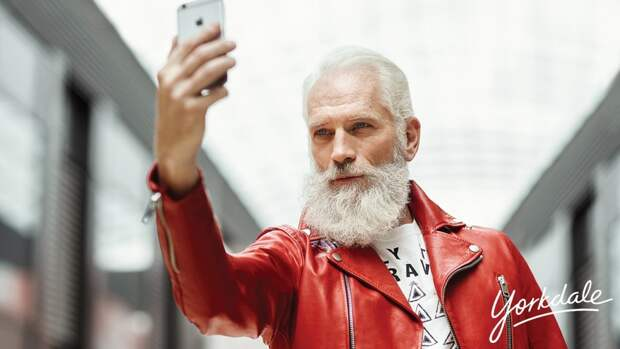 Стильный Санта