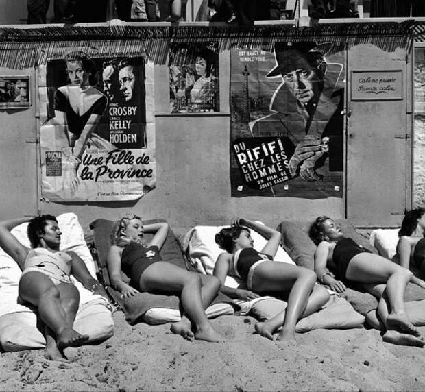 Старлетки на Каннском кинофестивале, 1955.