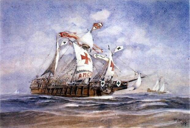 Корабль тамплиеров. Фото из открытых источников