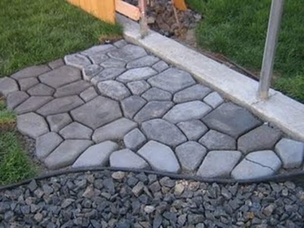 DIY molded concrete walk.