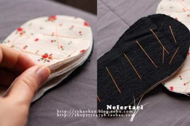 Картинка мастер-класс шитья сандалий своими руками