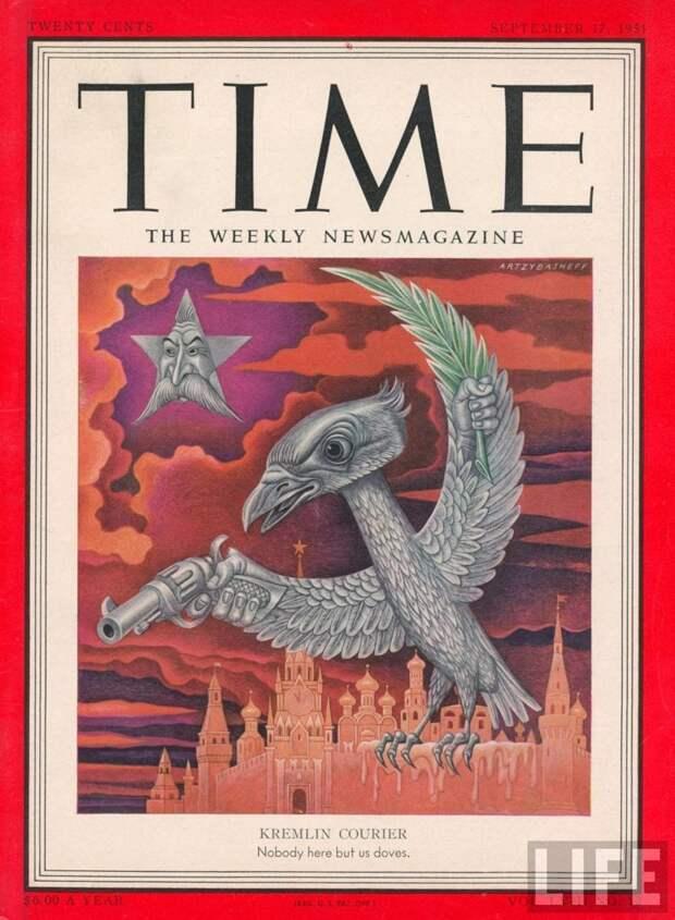 При тираже около 3,4 млн экз. в 2007 году TIMEявляется самым популярным журналом в США. Таким они видели СССР и Сталина издания, издевательство, интересное, мир, обложки, политики, странное